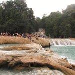 The lower falls at Agua Azul