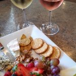 Fruit and Cheese with Pinot Gris and Rose.....what could be bad?