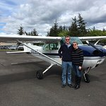 Awesome scenic flight from Orcas Island. Thank You, Mari!