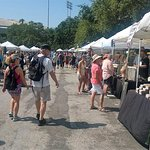 One of the rows of vendors