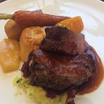 This is the Beef dish offered at brunch. Comes with yorkshire pudding and duck fat potatoes.