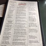 Breakfast menu...lots of choices.