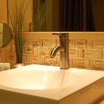Blue Spruce One Cottage bathroom sink
