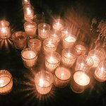 Candles create a beautiful atmosphere