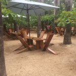 Outdoor seating on the beach!