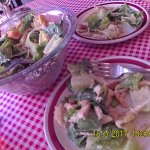 """""""small"""" salad with chicken.  I'd go back just for another."""