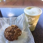 Muffin, this time, with latte