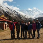 Our group with our guide Shree, Tenboche, Nepal