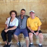 At the top of Masada with Meni - our fantastic tour guide! We were so lucky to have him!