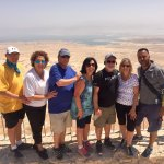 Our friends and Meni on our tour of Israel