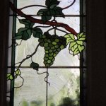 Stained glass grapes at Dry Creek Winery