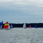 The Sailboat races Wednesday and Thursday nights just a short walk away from the Lighthouse eate