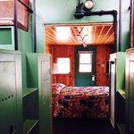 Inside a caboose with a copula