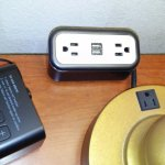 Outlets on bedside table