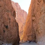 The Todra Gorge has a very wide paved road cutting through it, so be careful to watch for cars!
