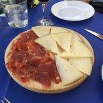 Jamon & cheese platter