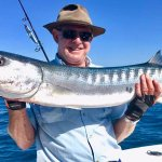 A toothy Barracuda caught on a big stickbait from On Strike, north of Exmouth