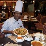 Chef Mahesh Kumar with his creativity