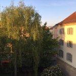 Der Ausblick aus meinem Zimmer am Morgen: Guten Morgen Weimar!