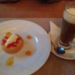 dessert and Irish coffee