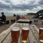 Pints on the beach