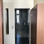 Separate bathroom in room 205