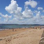 Exmouth Beach 5 minutes walk away