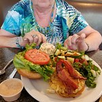 Crab cake sandwich.