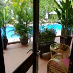The Cabana Premier rooms have pool view - couple of steps and your there.