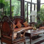 Beautiful wooden Khmer furniture.