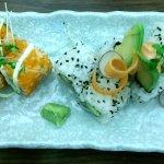 Fuji Hiro sushi California Roll and Avocado and Salmon