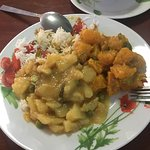 Superb pumpkin curry with potato, coconut milk and tamarind curry. The staff/owners are friendly
