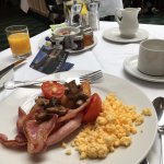Full english breakfast at the buffet after a long flight was perfect
