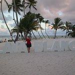 Playa Blanca beach sign - popular photo spot