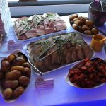 A sample of the buffet served at the Ruby Wedding celebration at the weekend...