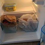 no shelf in fridge