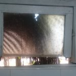 Broken bathroom window