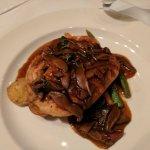 Chicken Marsala over pasta with mushrooms--yum!
