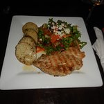 Honey glazed chicken. Large plate serving
