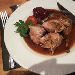 Glasfryn Estate Pheasant: roast bacon-wrapped, sage-stuffed breast served with a slow-braised le