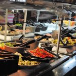 Generous offerings at the salad bar
