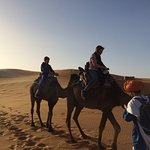 The kids managed the camel ride..