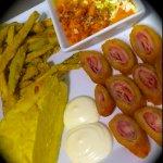 Dipeo cordobés, salmorejo, tortilla de patatas flamenquín y Berenjenas fritas