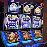 """HOT NEW SLOT MACHINE ALERT! Introducing the """"Gold Stacks"""". Come try your luck!"""
