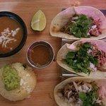 Lamb tacos and chili relleno