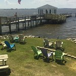 The pier and outdoor seating