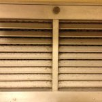 Dust covered air vent