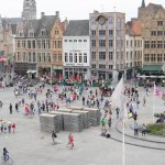 The Markt, Bruges, from the balcony of the Historium