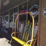 Ski chair/ front of store