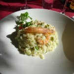 Excellent prawn risotto